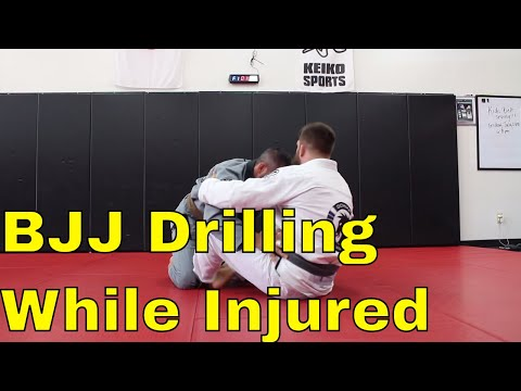 BJJ Drilling with a Cracked Patella (Butterfly and Half Guard)