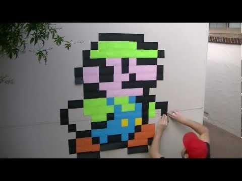 POST IT NOTE: LUIGI! (Sticky Note Wall Art #01) [HD]