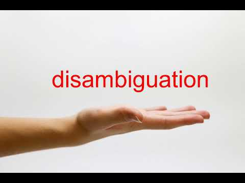 How to Pronounce disambiguation - American English