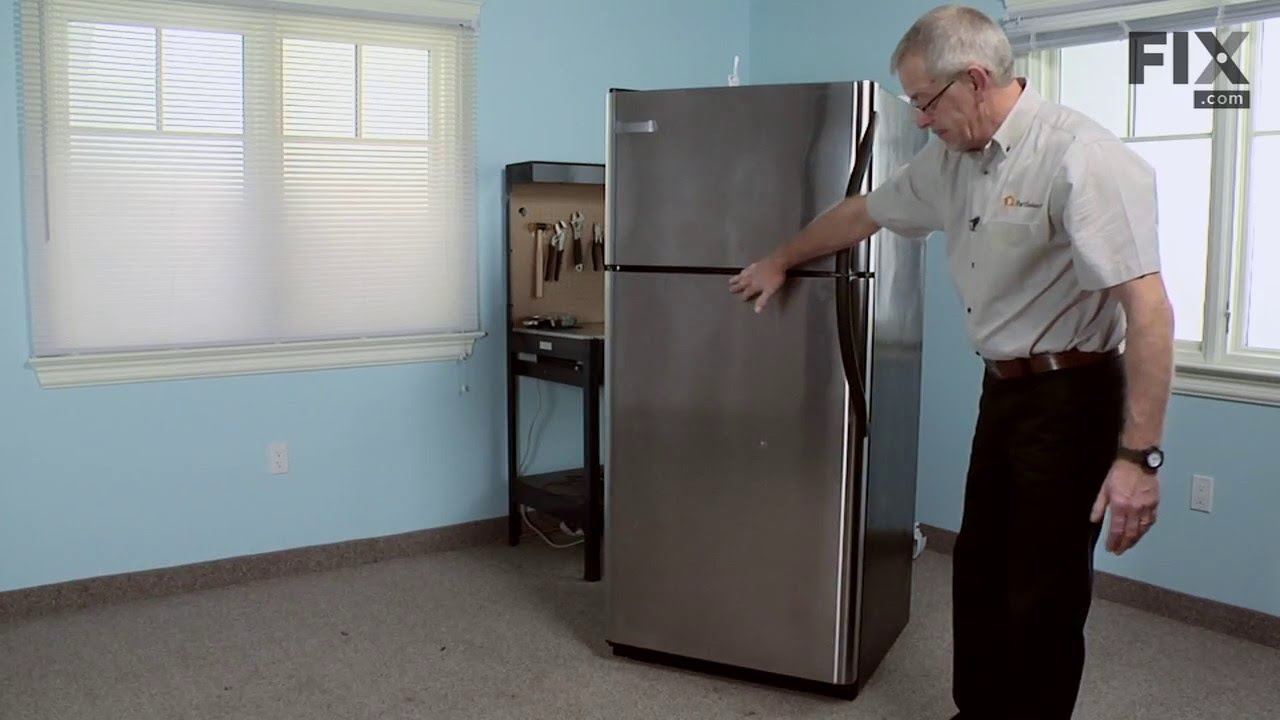 Frigidaire Refrigerator Repair U2013 How To Replace The Refrigerator Door Shelf  Retainer/Bin