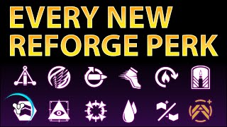 Planet Destiny: NEW HoW Weapon Perks + Reforge Suggestions