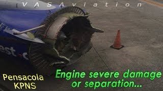 real atc southwest lost engine cowl depressurization o