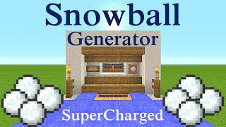 Minecraft Tutorial : Snowball Generator Supercharged, NO Redstone