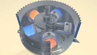 видео Роторно - поршневой двигатель внутреннего сгорания - устройство и принцип работы