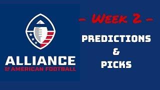 Alliance of American Football (AAF) Week 2 Predictions & Picks