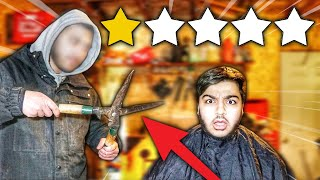 Getting A Haircut At The Worst Reviewed Barber In My City! (1 STAR HAIRCUT!)