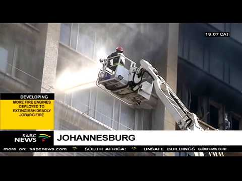 #JoburgFire: Firefighters from other metros deployed in the Joburg CBD