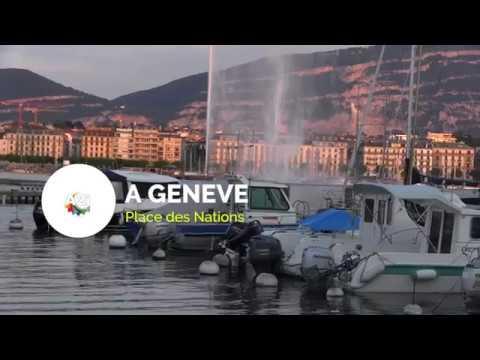 GENEVE , place des Nations : Impressions des jeunes sur l' immigration