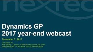 Webcast: Microsoft Dynamics GP 2017 year-end closing