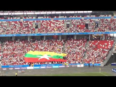 MYANMAR FLAG From 28th SEA GAME ( Semi-Final )