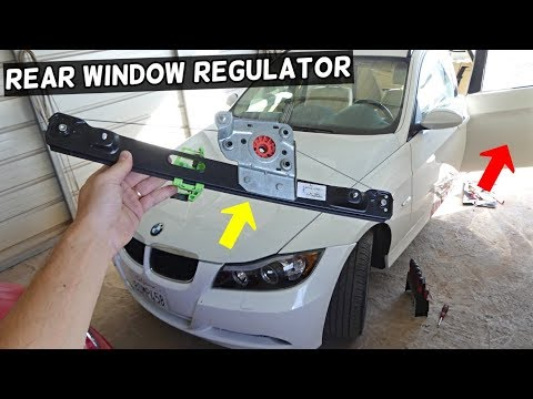 HOW TO REMOVE AND REPLACE REAR WINDOW REGULATOR ON BMW E90 E91
