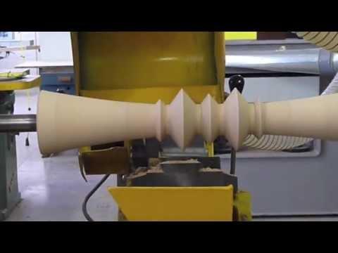 M Furniture Design Wood Turning Jig - Showing Hidden Pedestal Occasional Table Manufacturing Process