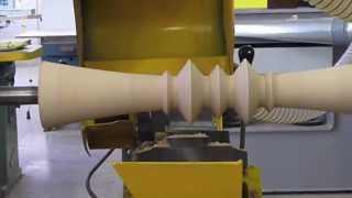 M Furniture Design Wood Turning Jig - Showing Hidden Pedestal Occasional Table Manufacturing Process
