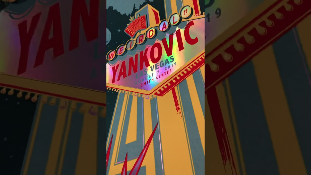 Weird Al Las Vegas Screenprint 2019 Rainbow Foil Variant