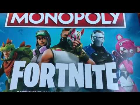 Unboxing The Fortnite Monopoly W All Characters Youtube