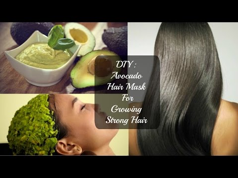DIY: Avocado hair mask for growing strong hair