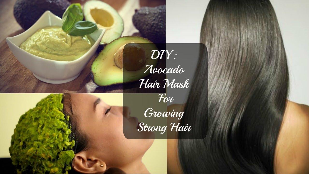diy: avocado hair mask for growing strong hair - youtube