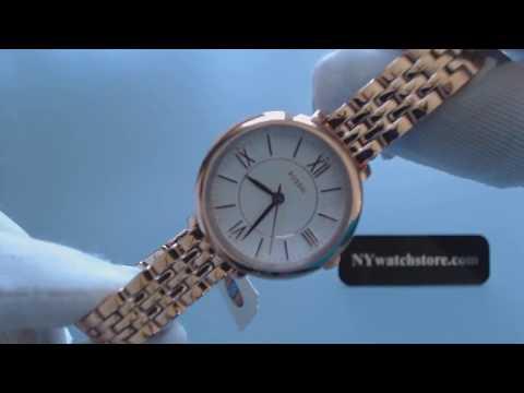 Women's Rose Gold Fossil Jacqueline Mini Steel Watch ES3799