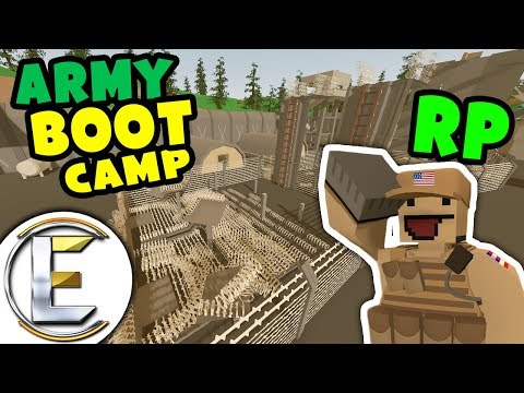 ARMY BOOT CAMP RP | Military Obstacle course and recruit training (Unturned Roleplay)