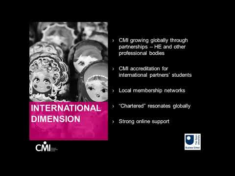 The OUBS partnership with CMI - a unique opportunity