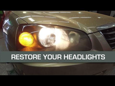 RESTORE YOUR HEADLIGHTS with sand paper. Remove the haze