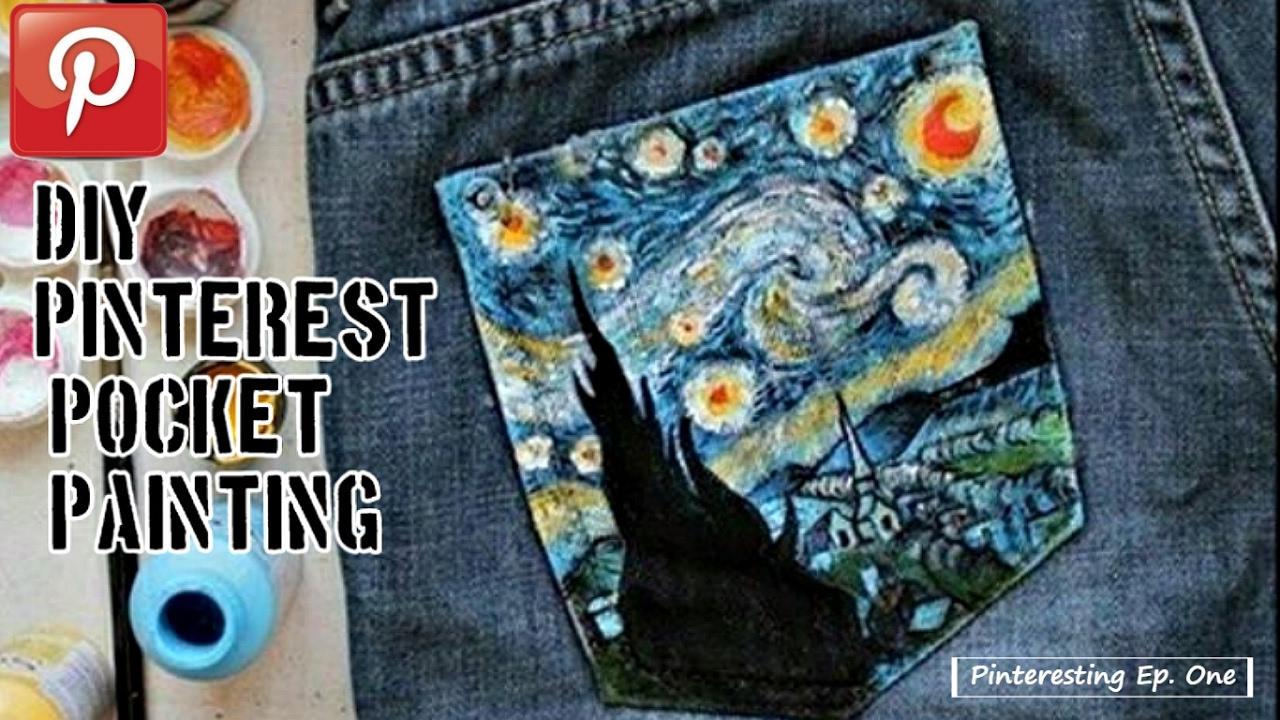 Pinterest DIY Pocket Painting Pinteresting Ep1 YouTube