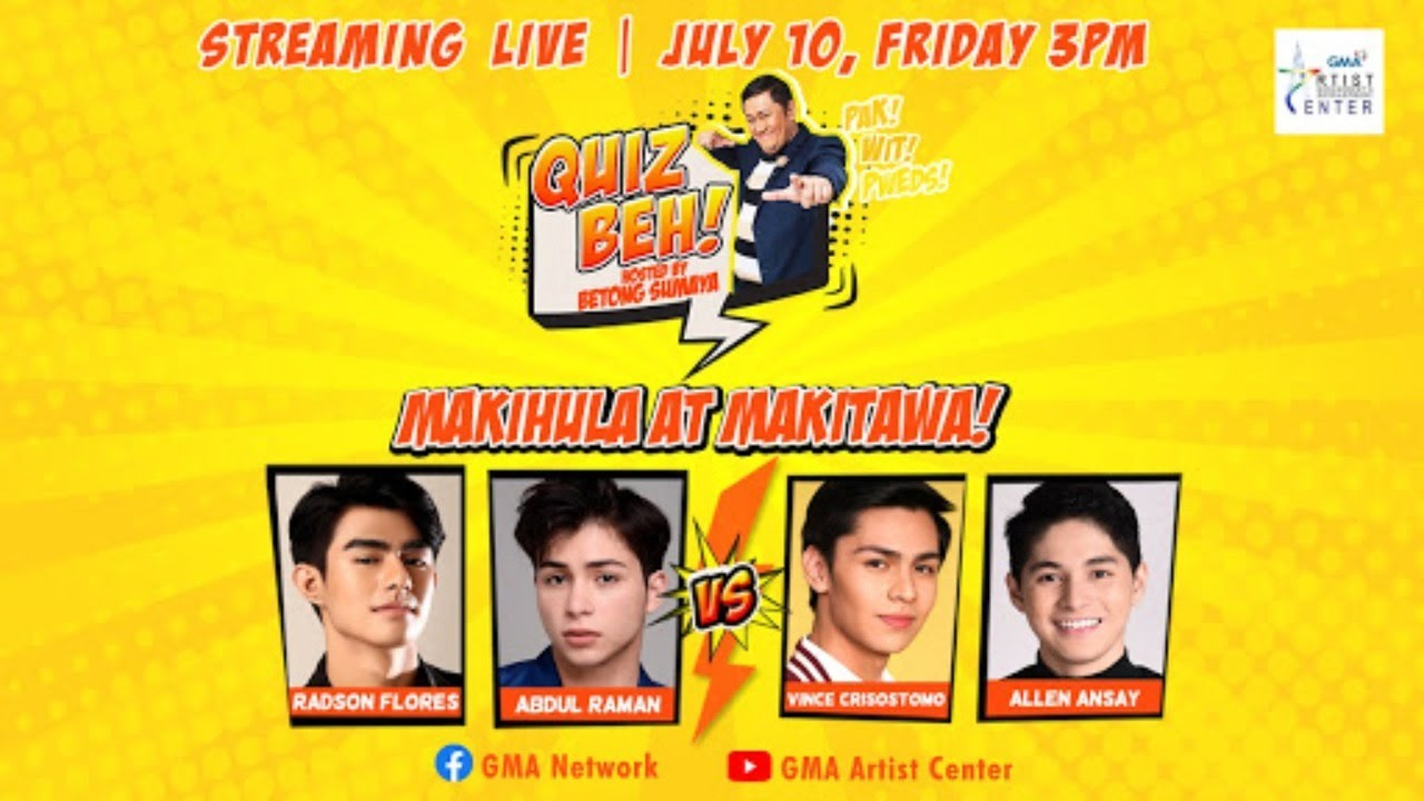 Quiz Beh: Kilig to the max 'Quiz Beh' with the Kapuso Cuties (LIVE) | July 10, 2020