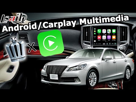 How To Install Carplay Android Video Interface And Remove Dash Panel On Toyota Crown 2015 By Lsailt