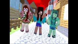 MIROH animation Minecraft (Me Herobrine girl/Zombie pigman girl/Zombie girl