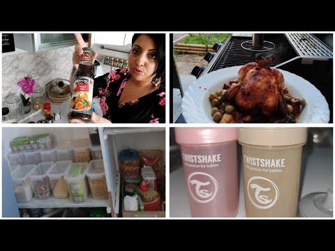 une-journÉe-avec-moi//rÉorganisation-de-mon-garde-manger//-recette-poulet-au-barbecue🍢🔥