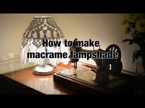 How to make macrame lampshade - DIY tutorial - boho style lampshade