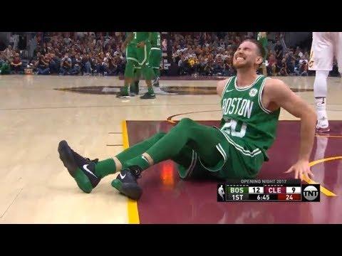 BOSTON CELTIC GORDAN HAYWARD BREAKS HIS LEG