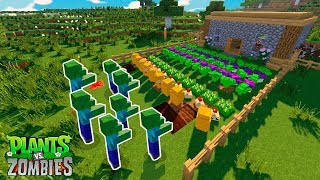 DESAFIO DA BASE PLANTS VS ZOMBIES | MINECRAFT PLANTS VS ZOMBIES