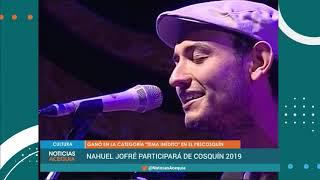 Nahuel Jofré actuará en el escenario principal de Cosquín