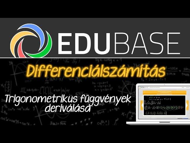 Differenciálszámítás (trigonometrikus függvények)