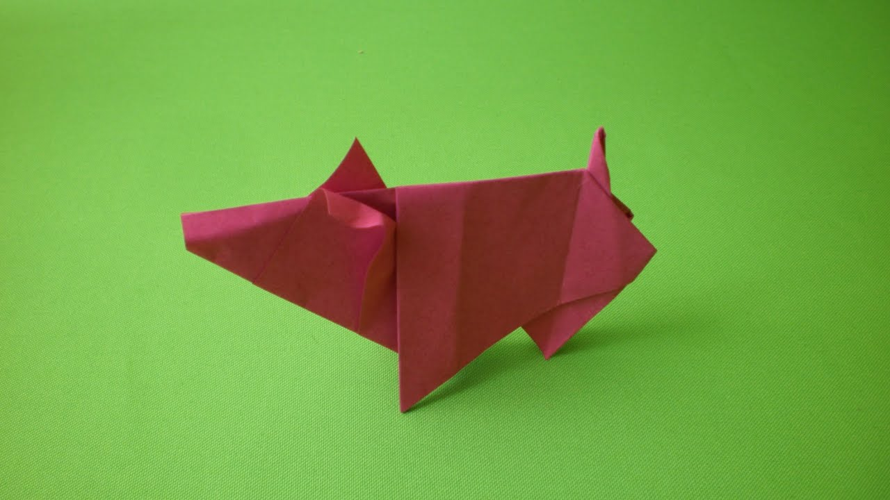 Origami Pig (How to make) - YouTube - photo#22