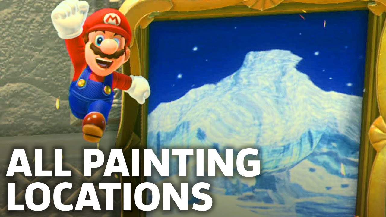 Super mario odyssey all painting locations youtube for Super mario odyssey paintings