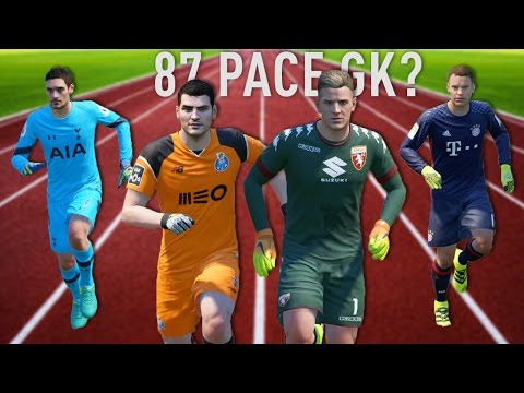 FASTEST GOALKEEPERS IN FIFA 17 !!! (Speed Test)