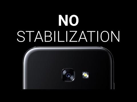 Samsung Galaxy A5 (2017) fails at video stabilization: comparison vs Galaxy S7
