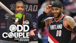 Carmelo Anthony Debuts & Why NBA Ratings Are Bad - Chris Broussard & Rob Parker