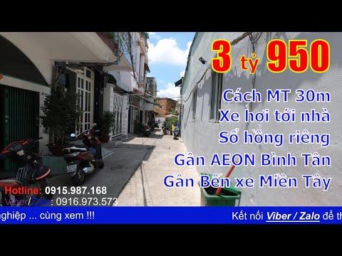 Video nhà bán quận Bình Tân, cách mặt tiền Tên Lửa 30m, gần AEON Bình Tân