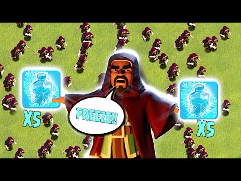 ALL MY TROOPS FREEZE!!🔸ITS AS COLD AS ICE!!!🔸Clash Of Clans