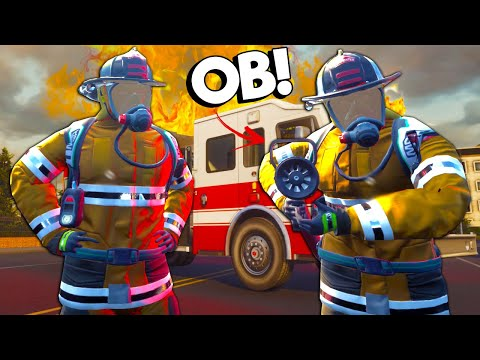 OB RUINED Our Fire Fighter Rescue Mission! - Firefighting Simulator Multiplayer |