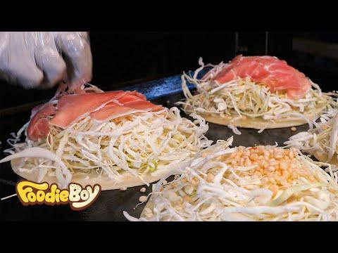 Cabbage Yaki / Seomun Night Market, Daegu Korea / Korean Street Food / 카베츠야끼 / 대구 서문야시장 길거리 음식