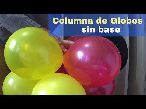 Como Hacer Columna De Globos Sin Base Youtube