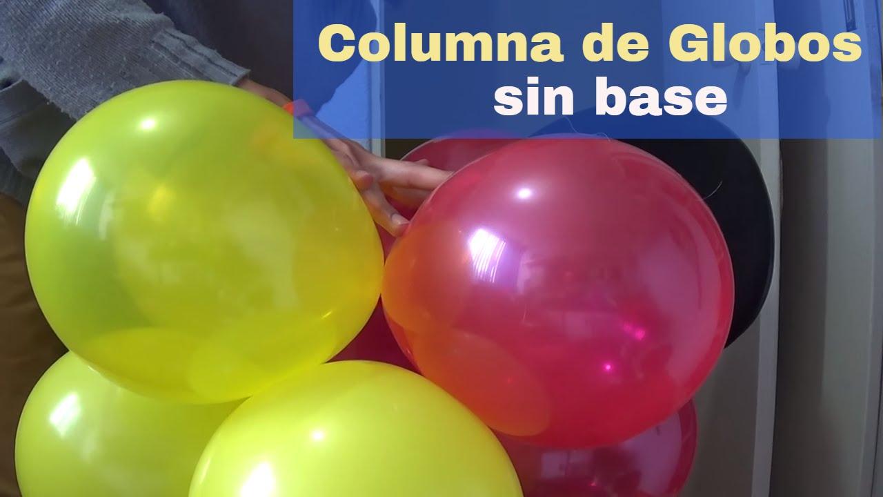 Como hacer columna de globos sin base youtube - Como hacer decoracion con globos ...