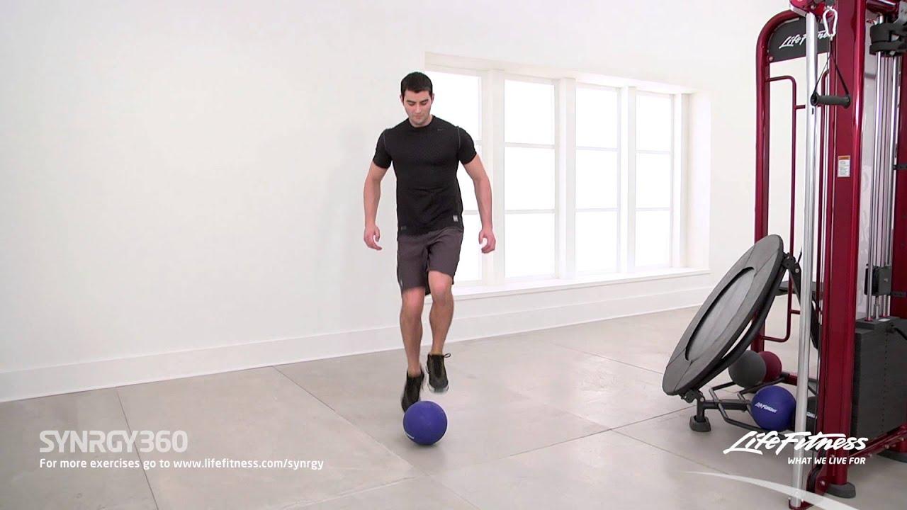 Hanging knee raises with medicine ball - Fast Feet On Medicine Ball