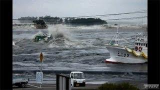松川浦に押し寄せる津波  【視聴者提供映像】