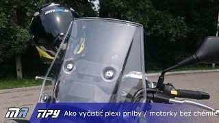 MR Tipy: Ako vyčistiť plexi prilby / motorky na cestách bez chémie - motoride.sk