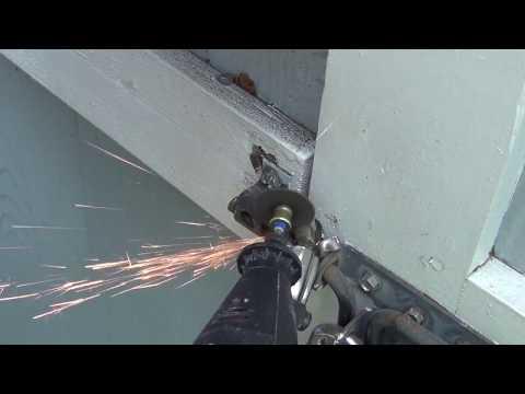 Cutting Disc Storage Locker Lock Off with a Dremel